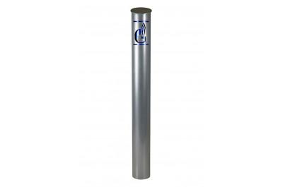 Столбик с логотипом бетонируемый (со светоотражающей наклейкой)