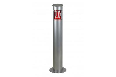 Столбик с логотипом анкерный (со светоотражающей наклейкой)