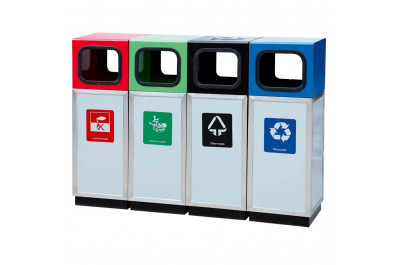 Урна для раздельного сбора мусора Artbin Alegro-4